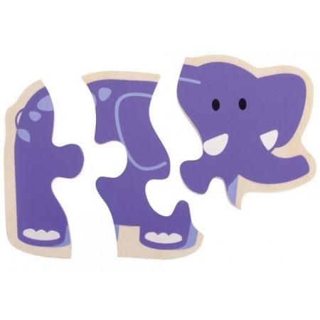 Primul meu puzzle Animale vesele - Beleduc