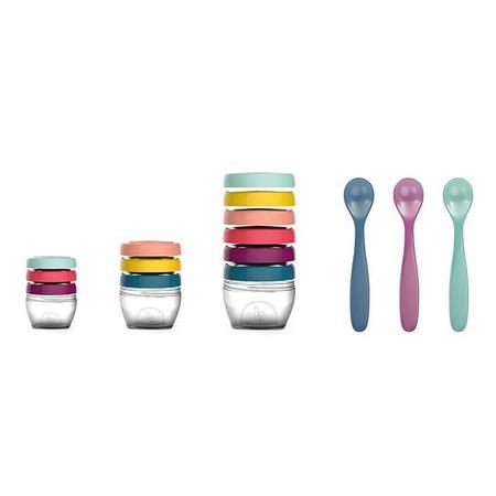 Multi set pentru diversificare: 3 seturi recipiente + un set linguri, Babymoov*