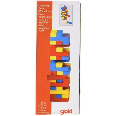 Joc Jenga cu piese din lemn Colori*
