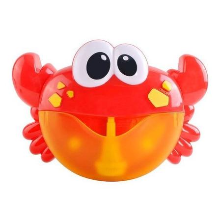 Jucarie de baie, Crab cu baloane muzicale de sapun Iso Trade MY17383, rosu*