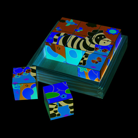 Puzzle cubic - safari, Bigjigs*