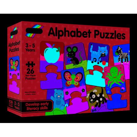 Set 26 de puzzle-uri Alphabet (2 piese), Galt*