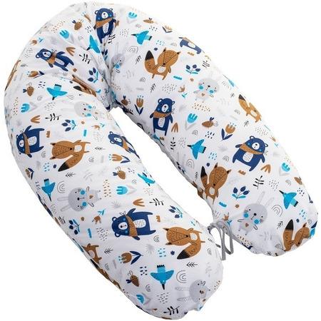 Perna pentru gravide si alaptat Rogal 170 cm Infantilo IF19017, ursuleti albastru inchis*