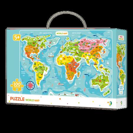 Puzzle - Continentele lumii (100 piese), Dodo*