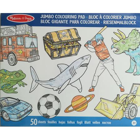 Caiet jumbo cu desene pentru colorat Melissa and Doug Albastru*