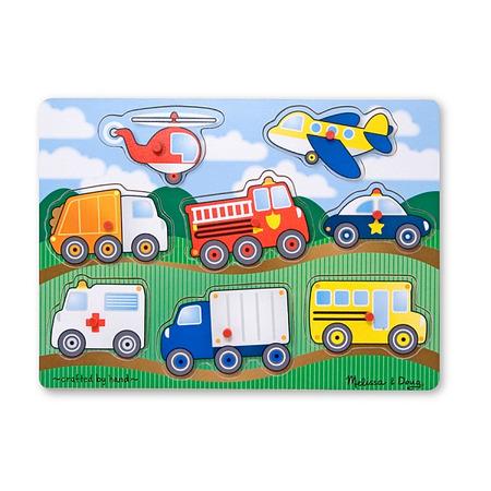 Melissa and Doug - Puzzle lemn Vehicule*