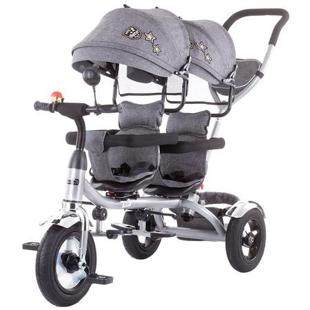 Tricicleta gemeni Chipolino 2Play grey*