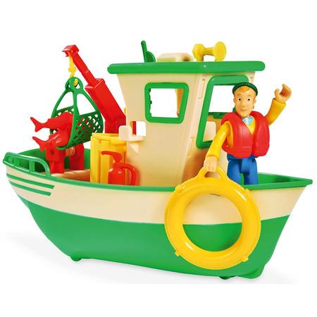 Barca Simba Fireman Sam Charlies Fishing Boat cu figurina*