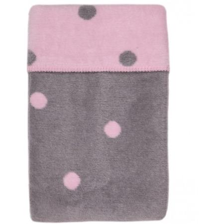 Paturica bebelusi Bumbac Buline 75x100 Womar Zaffiro AN-KBB-01, roz/gri*