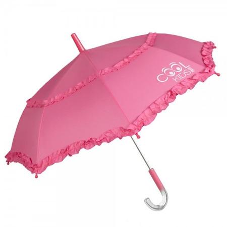 Umbrela manuala 42 cm cu inchidere cu siguranta roz Cool Kids Perletti*