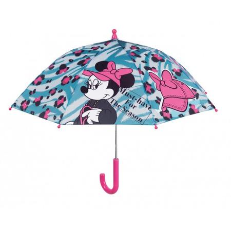 Umbrela manuala 38 cm cu inchidere cu siguranta Minnie bleu*