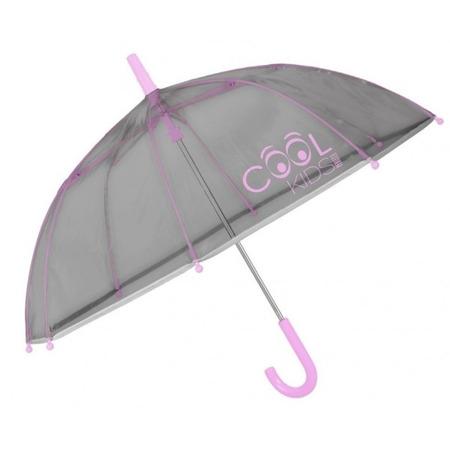 Umbrela manuala reflectorizanta gri cu roz Cool Kids Perletti*