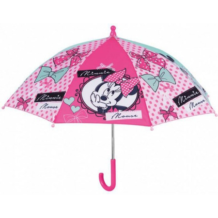 Umbrela manuala 38 cm cu inchidere cu siguranta Minnie roz*