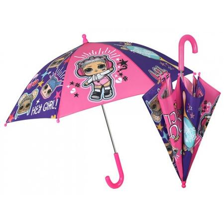 Umbrela manuala 42 cm cu inchidere cu siguranta LOL Surprise*