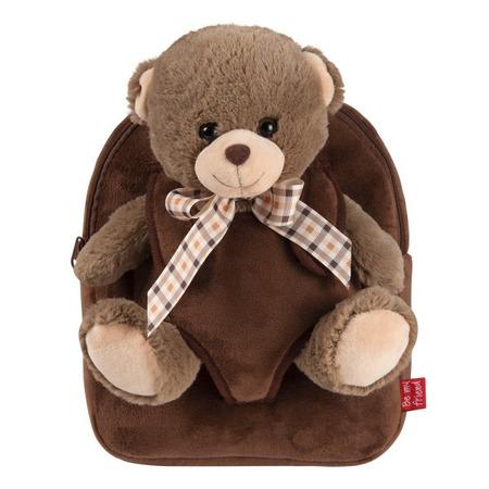 Rucsacel plus soft cu ursulet detasabil -  Tommy Bear Perletti*