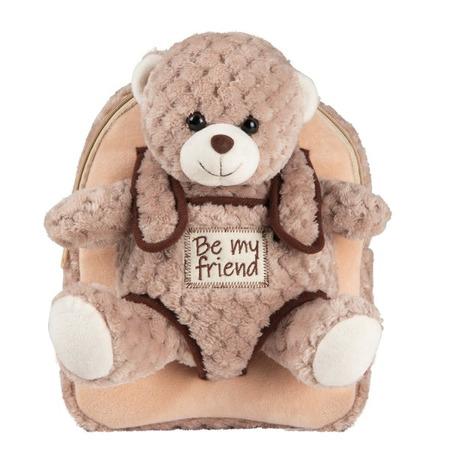 Rucsacel plus soft cu ursulet detasabil -  Milly Bear Perletti*
