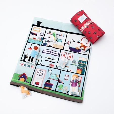 Set joaca portabil Tiny Magic Clinica veterinara cu 5 personaje incluse*