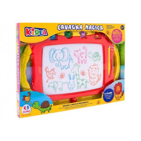 Tablita desen magnetica cu 4 stampile incluse, Globo Kidea*