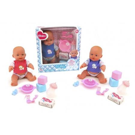 Papusa bebe cu accesorii mancare si baloane de sapun, Globo Bimbo*
