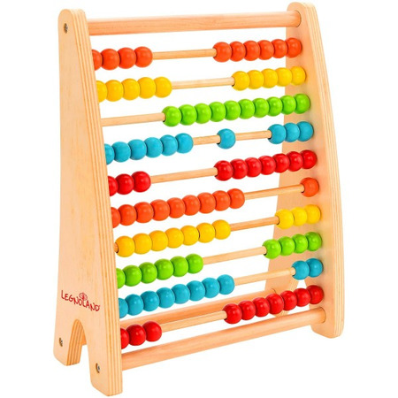 Abac din lemn 100 bile colorate Globo Legnoland socotitoare pentru copii*