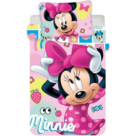 Set lenjerie pat copii Minnie 100 x 135 + 40 x 60 SunCity JFK019429*