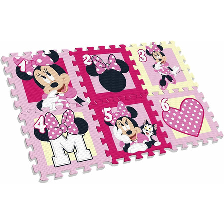 Covor puzzle Minnie Mouse 6 piese SunCity EWA20123WD*
