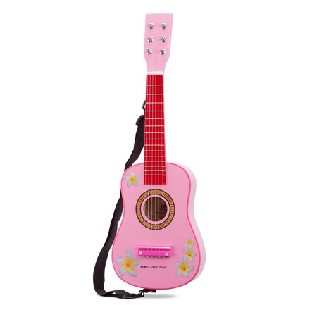 Chitara roz cu flori, New Classic Toys*