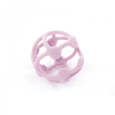 Jucarie bebelusi din silicon Bo Jungle bila pastel roz*