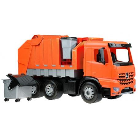 Camion de gunoi din plastic pentru copii Lena licenta Mercedes Benz 72 cm*
