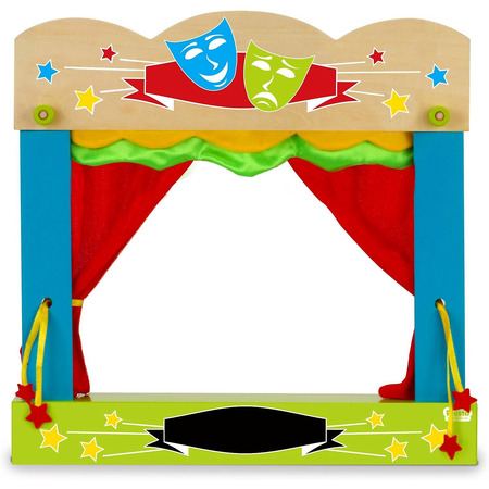 Teatru de papusi pentru marionete de deget Fiesta Crafts FCT-2749*