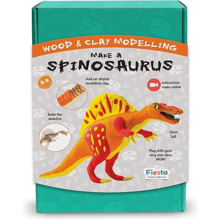 Kit constructie lemn si argila - Spinosaurus Fiesta Crafts FCT-2958*