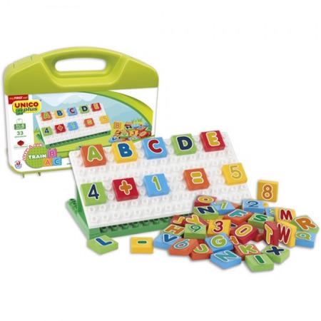 Valiza cuburi matematice pentru copii Unico 54 piese, Androni Giocattoli*