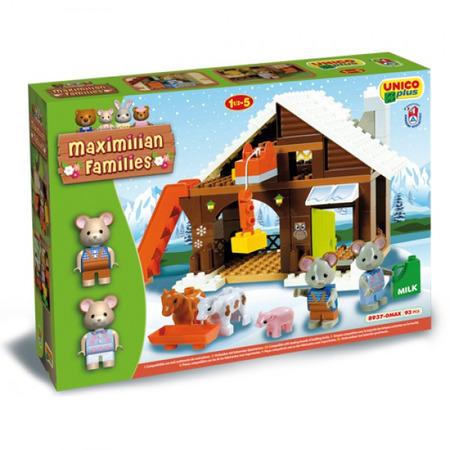 Set constructie Unico Maximilian Families Refugiul Montan 93 piese, Androni Giocattoli*