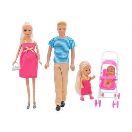 Set papusa insarcinata cu familie Globo cu diverse accesorii*