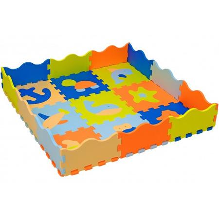 Puzzle burete cu animale pentru copii Globo Vitamina G 9 piese Eva cu margini*