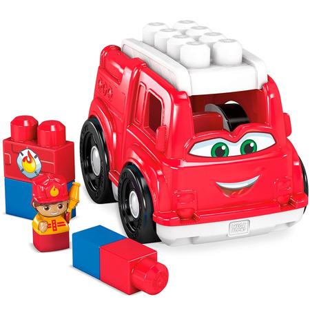 Set constructie Fisher Price Mega Blocks Masina de pompieri cu 6 piese*