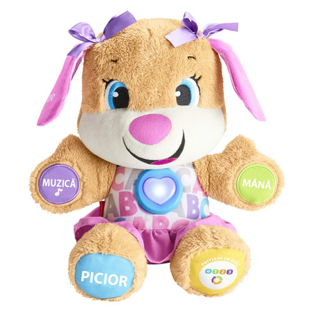 Jucarie de plus Fisher Price by Mattel Laugh and Learn Sis Catelusa vorbitoare in limba romana*