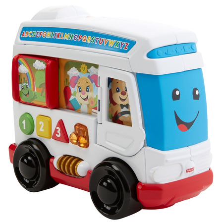 Jucarie Fisher Price by Mattel Laugh and Learn Autobuzul cu sunete in limba romana*