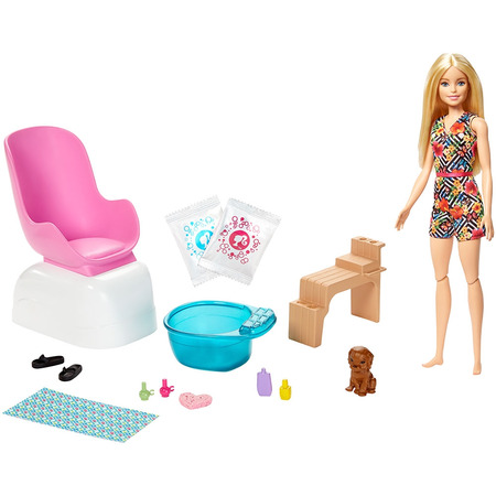 Set Barbie by Mattel Wellness and Fitness Salonul de unghii*