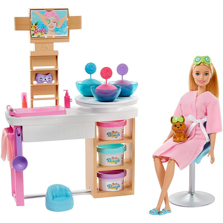 Set Barbie by Mattel Wellness and Fitness O zi la salonul Spa papusa cu figurina si accesorii*