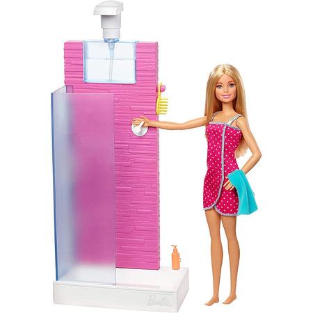Set Barbie by Mattel Estate cabina dus cu papusa si accesorii*