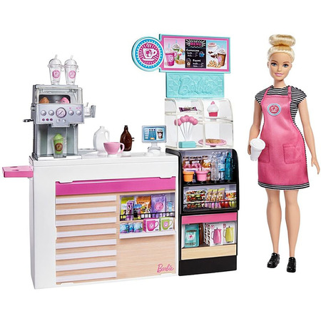 Set Barbie by Mattel Cooking and Baking Cafenea cu papusa si accesorii*