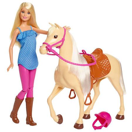 Set Barbie by Mattel Family Pets papusa cu cal*