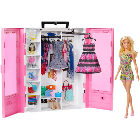 Set Barbie by Mattel Fashion and Beauty Dulap cu haine si papusa*