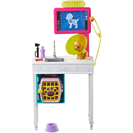 Set Barbie by Mattel I can be Cabinet veterinar GJL68 cu accesorii*
