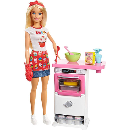 Set Barbie by Mattel I can be Papusa cu bucatarie FHP57*