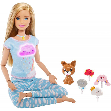 Set Barbie by Mattel Wellness and Fitness papusa mediteaza*