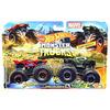 Set Hot Wheels by Mattel Monster Trucks Demolition Doubles Spiderman vs Hulk*