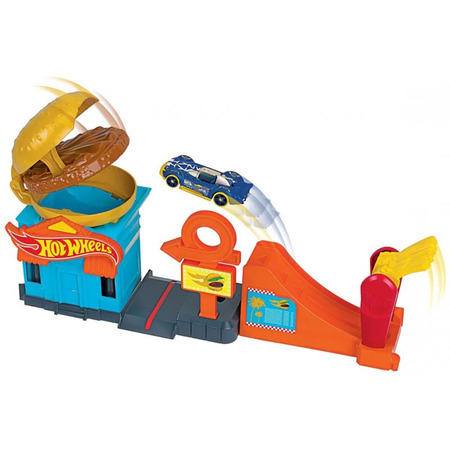 Pista de masini Hot Wheels by Mattel City Downtown Burger Dash cu masinuta*