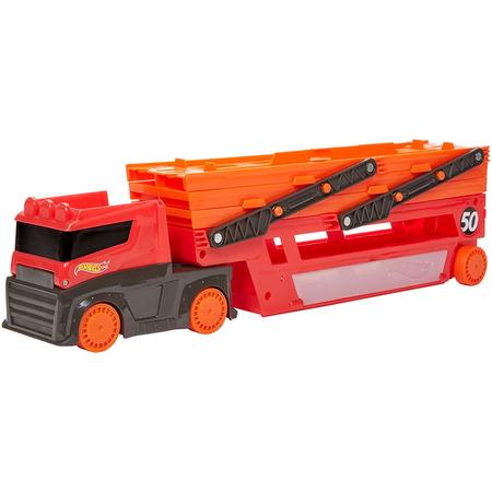 Camion Hot Wheels by Mattel Mega transportator cu trailer*